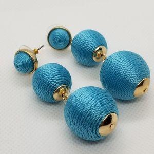 New Blue Rain Drop Earrings